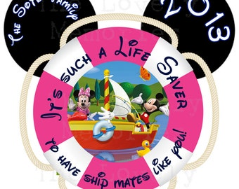 Nautical Mickey /Disney Cruise Theme Image for Magnets / Stickers- Printable DIY File (1 Designs)