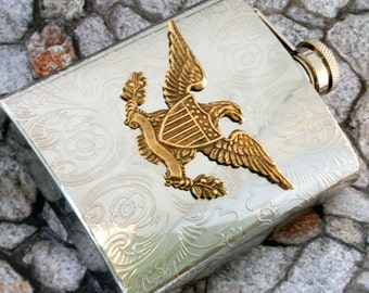 American Eagle Flask, Military Flask, Patriotic America Drinking Flask