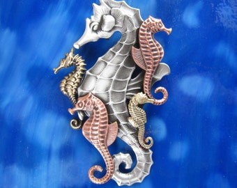 Seahorse jewelry etsy seahorse brooch seahorse pendant seahorse jewelry seahorse necklace mozeypictures Images