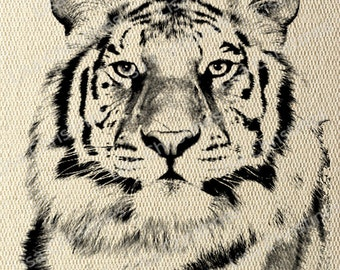 Tiger Instant Download Digital Transfer Image for Iron On / 26