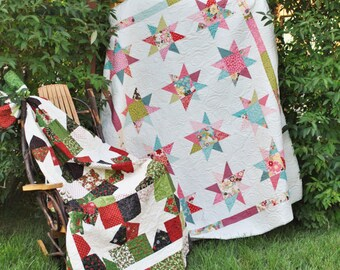 PATTERN: LAYER CAKE or Fat Quarter or Scrap Friendly, Bella Notte by Sweet Janes Designs