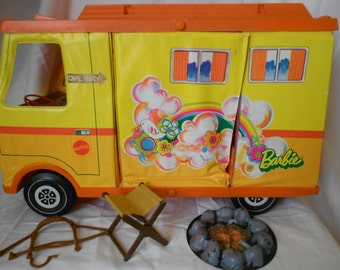 1970's Country Barbie Camper by Mattel, Barbie Camper, Vintage Barbie, Camping