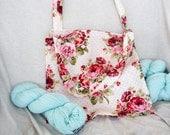 Cute Cream Vintage Rose Tote Bag