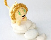 Reserved listing - Crochet rattle Lion and little leopard - Safari animal - waldorf toy
