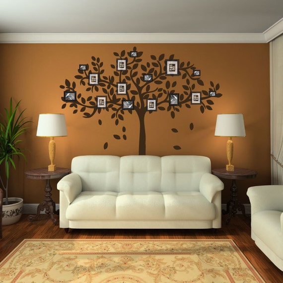 Family tree wall decal sticker picture frame tree branch for Home decoration pics
