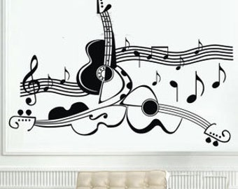 105x75cm Removable Music Note Nature Vinyl Wall Paper Decal Art Sticker Q857