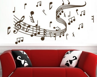 Wide 120x58cm Removable Music Note   Nature Vinyl Wall Paper Decal Art Sticker Q210