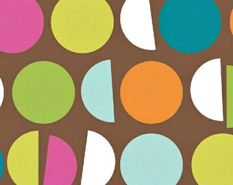 1 Yard Cream and Sugar Brown Macarons Fabric   Ampersand Design Studios - Windham Fabrics - Pattern no. 36123-2