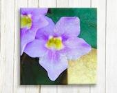 "Purple flowers - print on canvas - wedding gift - 12""x12"", 30x30 cm"