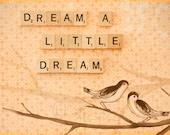Dream A Little Dream - Romantic, Chic, Vintage Nursery, Orange, Neutral, Branches, Beige, Home Decor, Birds, Mom, Branches, 8x10