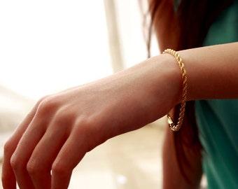14k gold bracelet, gold bracelet, women jewelry, gift for her, delicate gold bracelet, thin gold bracelet, 14k bracelet