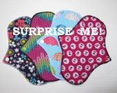 Choose Your Length - Classic Pantyliners - Set of 2 - Surprise Prints - Flannel - Cloth Menstrual Pads