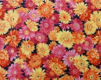 Bright floral fabric, 1/2 yard  -   (F-2)