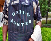 "Pinstripe ""Grill Master"" Apron"