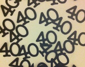 40th Birthday Decorations Table Confetti