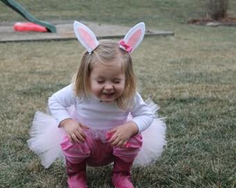 Bunny Costume- BunnyTutu-Toddler Costumes, Bunny Ears- Infant Halloween Costume- Toddler Bunny Tutu with Ears- Bunny Ears Headband