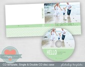 Bold Family CD and CD cases templates (single and double), photographer template, cd template, printable CD design