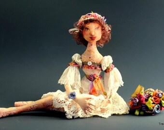 "Cloth Art Doll ""Celeste"""