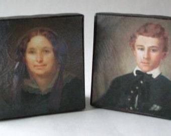 PrimiTive Folkart Pr. Of Early American Photo Keepsake Boxes  Beacon Hill Collectibles