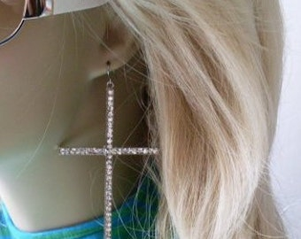 Exquisite Large Religious Cross/Hoop Earrings BeaconHillCollect Jewelry We Ship Internationally
