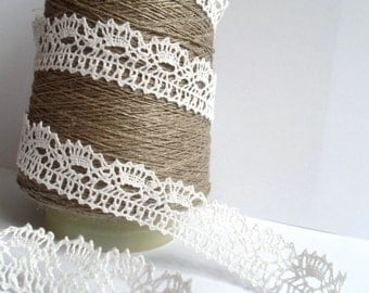 Linen lace trim, Various colors, 100% Linen, 5m/5,5 yards