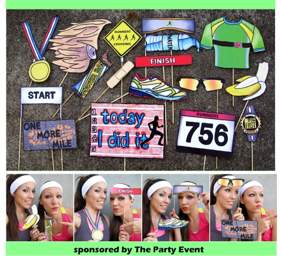 Running Race Photo Booth Props Perfect For Your Pre Run Party