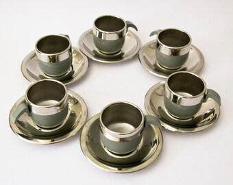 Original Vintage Italian cups 1970 grey STELLA