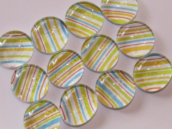 Glass marble magnets