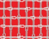 Knotty Plaid in Red from Maritime Modern by Marin Sutton 1/2 Yard Cut