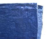 Vintage plush or panne velvet for teddy bears navy blue cobalt blue dark blue midnight blue fat quarter