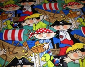 "Pirate Fabric Birthday Party Table Cloth 44"" X 90"" Rectangle"