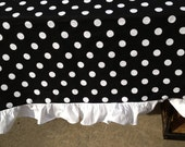 "14"" X 120"" Black with White Ruffle Runner"
