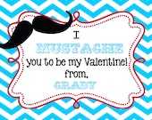 Childrens Personalized  Valentines  Day Cards  digital printable DIY