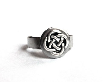 Silver Celtic Knot Ring, Stainless Steel Jewelry, Celtic Jewelry for Women, Lightweight, Non Tarnish