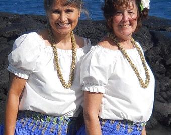 Small, medium, large peasant blouse, hula blouse, hula top,