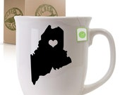 Maine State Graphic Coffee Mug k-aa-2015 - StickerSlug
