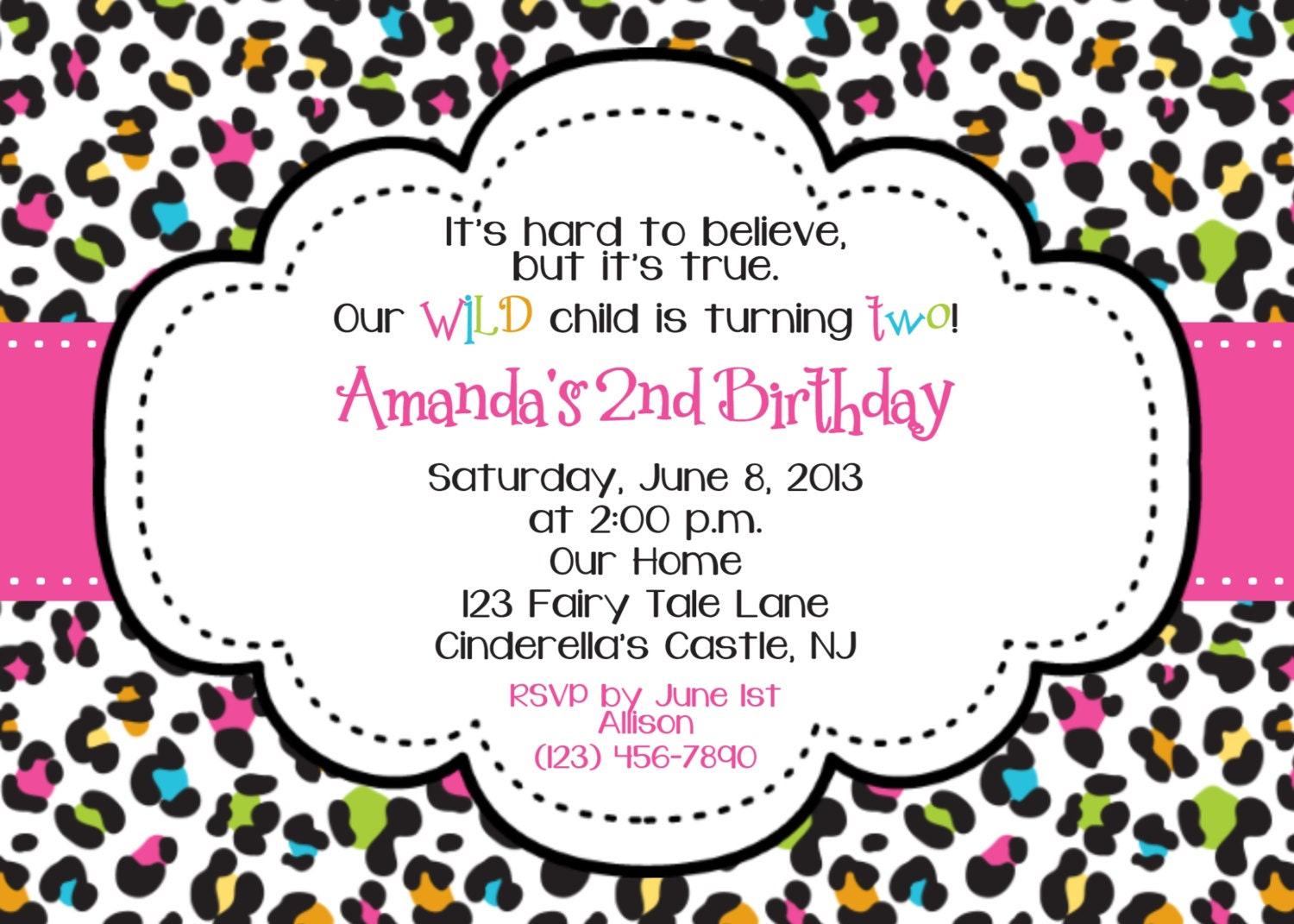 Leopard Print Birthday Party Invitations: Unavailable listing on ...