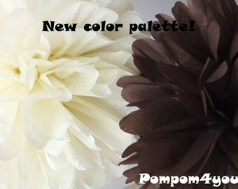 20 Tissue Pom Pom mix - any colors