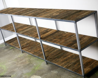 Reclaimed wood bookcase. Shelving unit. Modern/Industrial style. Rustic/modern industrial style. Handmade.  (book case)