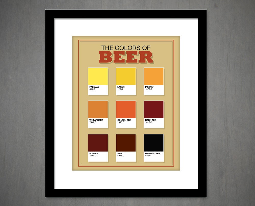 Man Cave Paintings : The colors of beer art print man cave guys lounge bar