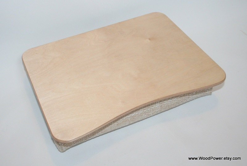 Wooden Laptop Desk / Bed Tray / Serving Tray / Pillow by WoodPower