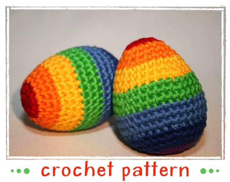 Amigurumi Easter Egg Pattern : Umizoomi Rainbow Egg Egg Collection & Chick Crochet