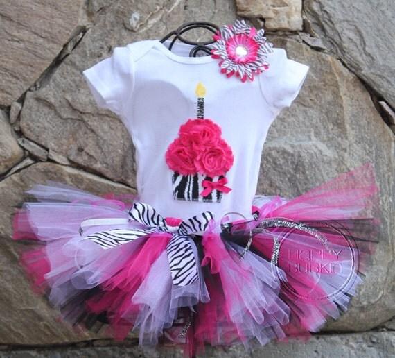 Barbie Zebra Theme 1st And 5th Birthday: SASSY PINK ZEBRA Birthday Girl Tutu Skirt And By HAPPYBUBKIN