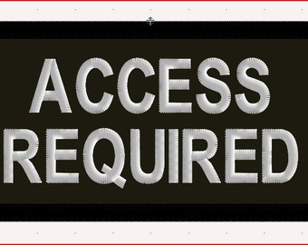 """Access Required Service Dog Patch Black 2"""" x 4"""""""