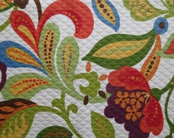 Outdoor Pillow Cover / Solarium Pillow Cover / Floral Print/ Pillow Cover