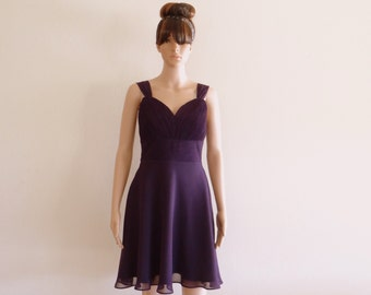 Dark Purple Bridesmaid Dress. Evening Dress