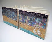 Wedding book mosaic - wedding gift, wedding album. summer trend - minimal, blue, azure, provence - LaTenagliaImpazzita