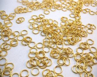 Gold Jump Rings 6mm Diameter (Quantity of 200) RING002