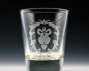 World of Warcraft Alliance Symbol Shot Glass