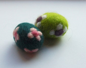 Easter eggs, felted easter eggs, decoration with flowers (2)